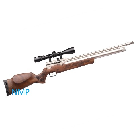 KRAL PUNCHER MAXI MARINE PCP PRE-CHARGED AIR RIFLE .22 calibre 12 shot WALNUT STOCK